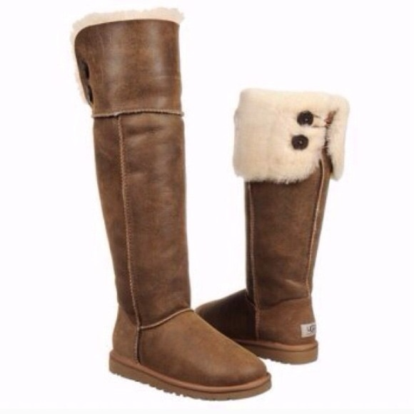 c6898da5d0a Ugg Over The Knee Bailey Button Boots, Size 10